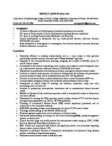 MANOJ P. JADHAV (PhD, FCP)