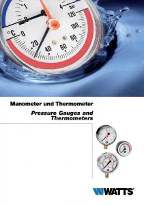 Manometer und Thermometer Pressure Gauges and Thermometers