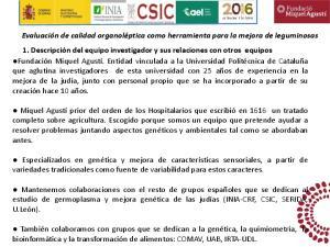 Mantenemos colaboraciones con el resto de grupos españoles que se dedican al