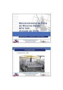 Mantenimiento de Flota de Motores Diesel MTU 396: Armada de Chile