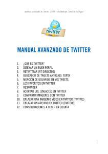 MANUAL AVANZADO DE TWITTER