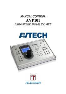MANUAL CONTROL AVP101 PARA SPEED DOME Y DVR S