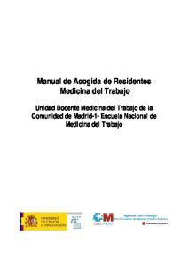 Manual de Acogida de Residentes Medicina del Trabajo