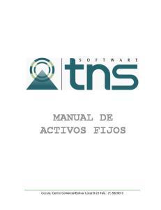 MANUAL DE ACTIVOS FIJOS