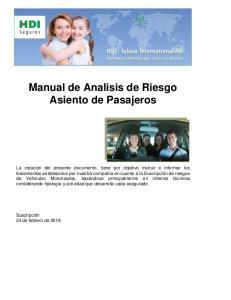 Manual de Analisis de Riesgo Asiento de Pasajeros
