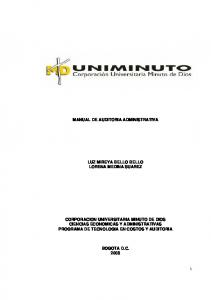 MANUAL DE AUDITORIA ADMINISTRATIVA