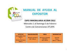 MANUAL DE AYUDA AL EXPOSITOR