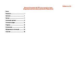 Manual de ayuda del PFI para incorporar datos