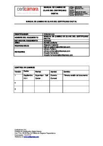 MANUAL DE CAMBIO DE CLAVE DEL CERTIFICADO DIGITAL