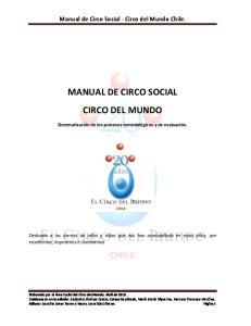 MANUAL DE CIRCO SOCIAL CIRCO DEL MUNDO