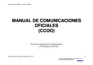 MANUAL DE COMUNICACIONES OFICIALES (CCOO)