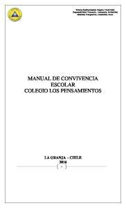 MANUAL DE CONVIVENCIA ESCOLAR COLEGIO LOS PENSAMIENTOS