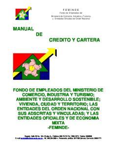 MANUAL DE CREDITO Y CARTERA