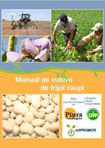Manual de cultivo de frijol caupi