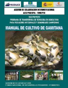 MANUAL DE CULTIVO DE GAMITANA