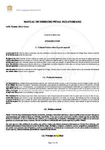 MANUAL DE DERECHO PENAL ECUATORIANO