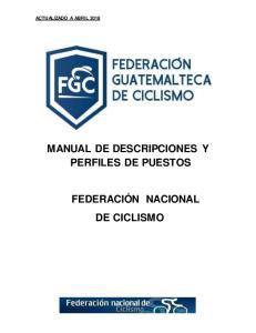 MANUAL DE DESCRIPCIONES Y PERFILES DE PUESTOS