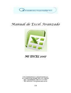 Manual de Excel Avanzado