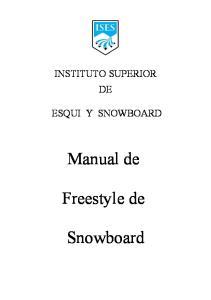 Manual de. Freestyle de. Snowboard