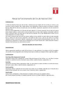 Manual de Funcionamiento del Circuito Nacional 2016