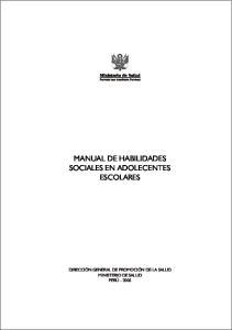 MANUAL DE HABILIDADES SOCIALES EN ADOLECENTES ESCOLARES