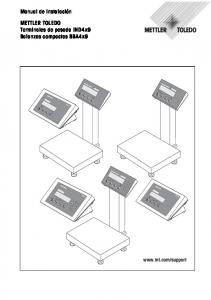 Manual de instalación. METTLER TOLEDO Terminales de pesada IND4x9 Balanzas compactas BBA4x9.  IND 429 IND 449 IND 439