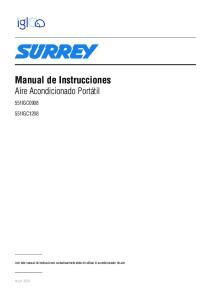 Manual de Instrucciones Aire Acondicionado Portátil