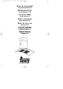 Manual de Instrucciones. Bedienungsanleitung. Instructions Manual. Manuel dinstructions. Manual de Instruıes Ο ΗΓΙΕΣ ΧΡΗΣΕΩΣ