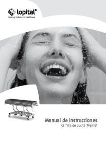Manual de instrucciones Camilla de ducha Marina