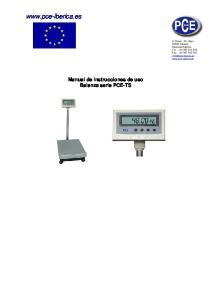 Manual de instrucciones de uso Balanza serie PCE-TS