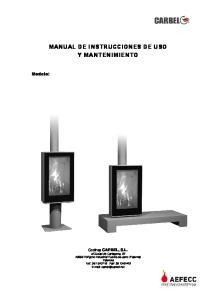 MANUAL DE INSTRUCCIONES DE USO Y MANTENIMIENTO