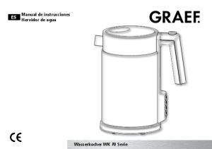 Manual de instrucciones Hervidor de agua. Wasserkocher WK 70 Serie