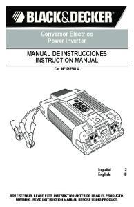 MANUAL DE INSTRUCCIONES INSTRUCTION MANUAL