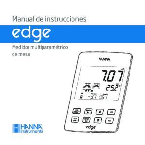 Manual de instrucciones. Medidor multiparamétrico de mesa