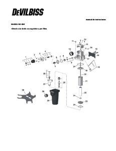 Manual de Instrucciones. Modelo FRC-650. Filtro de aire doble con regulador y pre-filtro