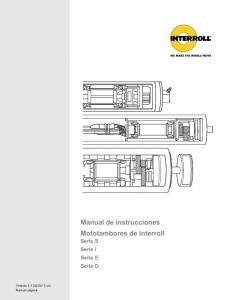 Manual de instrucciones Mototambores de Interroll Serie S Serie i Serie E Serie D