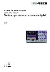 Manual de instrucciones Serie IDS-2000A Osciloscopio de almacenamiento digital