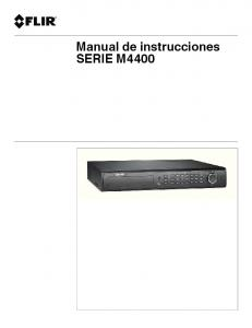 Manual de instrucciones SERIE M4400