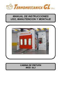 MANUAL DE INSTRUCCIONES USO, MANUTENCION Y MONTAJE