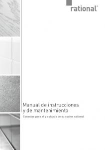 Manual de instrucciones y de mantenimiento