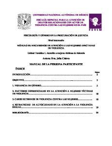 MANUAL DE LA PERSONA PARTICIPANTE