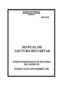 MANUAL DE LECTURA DE CARTAS