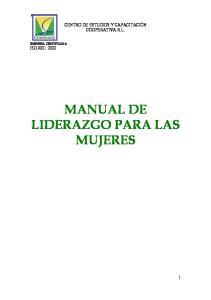 MANUAL DE LIDERAZGO PARA LAS MUJERES