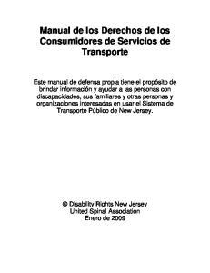Manual de los Derechos de los Consumidores de Servicios de Transporte