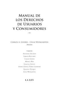 Manual de los Derechos de Usuarios y Consumidores