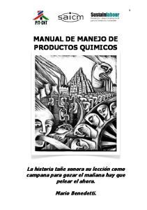 MANUAL DE MANEJO DE PRODUCTOS QUIMICOS