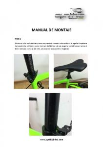 MANUAL DE MONTAJE.  PASO 1: