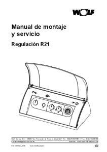 Manual de montaje y servicio