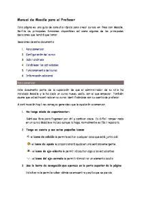 Manual de Moodle para el Profesor