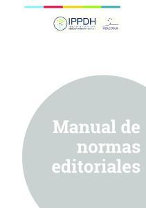 Manual de normas editoriales